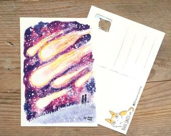 Meteor Shower Postcard
