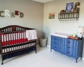 Custom 4 Piece Crib Bedding Set