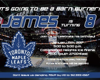 Toronto Maple Leafs Invitation - Printable / Customizable