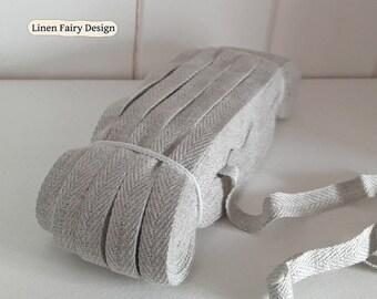 WHOLESALE Skein 50 meters Cotton Tape Light Grey 1 Arrow Twill Tape Ribbon Herringbone 10 mm Wrapping Binding Tape Bias Tape Craft Supply