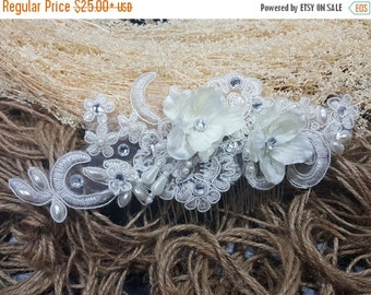 SALE Bridal Hair Comb, Wedding Hair Comb, Lace Wedding hair comb, Wedding Headpiece, Bridal Headpiece, Winter Wedding comb, Birdcage Veil