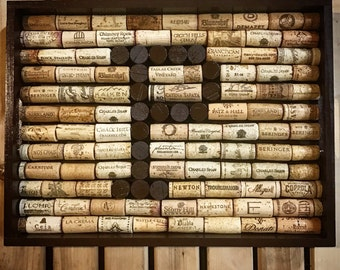 Wine Cork Monogram Tray-Wine Cork-Serving Tray-Display Tray-Wine-Wine Gifts-Housewarming Gift-Wedding Gift-Wine Décor