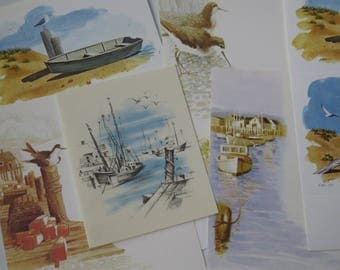 Vintage Seaside Stationery Collection ~ Harbor ~ Ocean ~ Boats