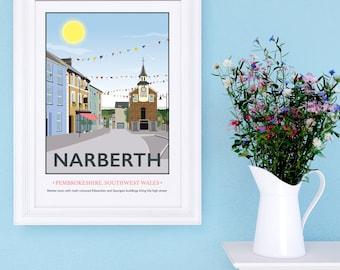 Narberth, Pembrokeshire Print