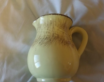 Vintage Ceramic Green Pitcher Made in Italy CL35-13