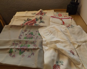 Lot of Vintage Linens,  Towels and Pillow Covers
