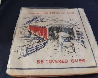 Vintage  Encouragement Napkins