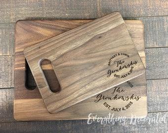 Cutting Board, Personalized Cutting Board, Custom Cutting Board, Couple Cutting Board, Wood Cutting Board, Monogram Cutting Board, Wedding