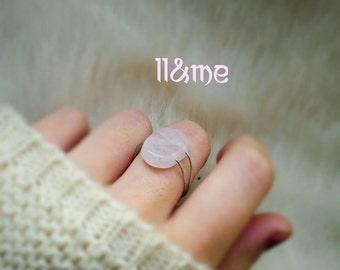 Rose quartz ring, boho, gypsy, bohemian, country chic, minimalist, healing stone, crystals, festival, tumblr, love