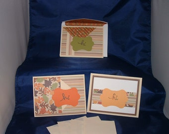 Note cards, stationery, hello, notes, cards, autumn, fall