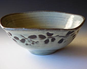 squared green serving bowl