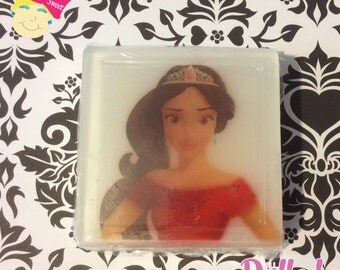 Elena of Avalor, soap, image embedded soap, picture soap, fun soap, kids soap, gift soap