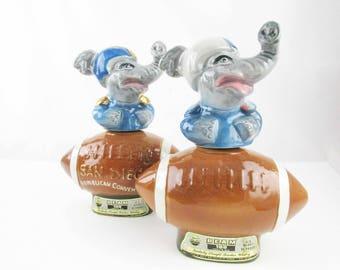 Two Decanters - 1972 'Republican Convention, San Diego' - Beam Decanters - Political Memorabilia - Genuine Regal China Ceramics