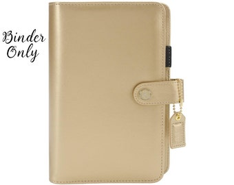 Webster's Pages Color Crush Personal Planner - Binder Only - Gold - 414578