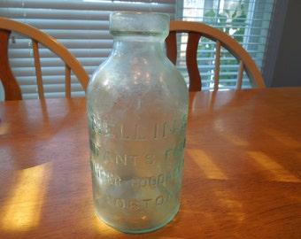Vintage Bottle.  Mellins Infants Food, Doliber - Goodale Co, Boston