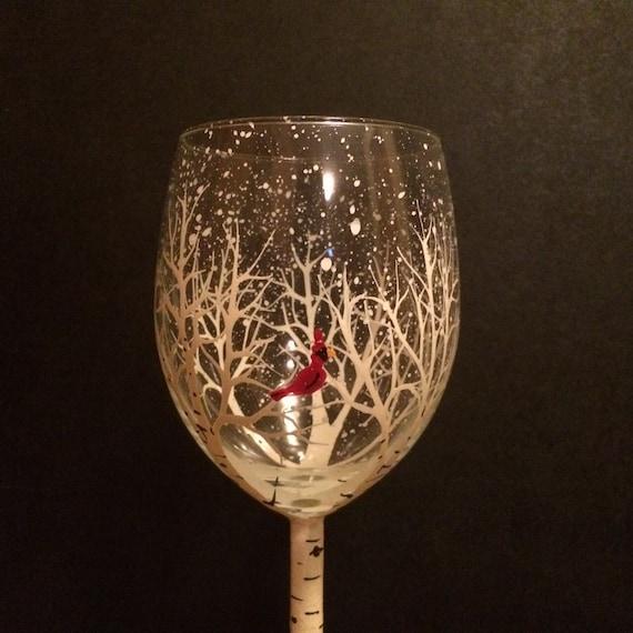 Items Similar To Single Aspen Tree Wine Glasses Small Size