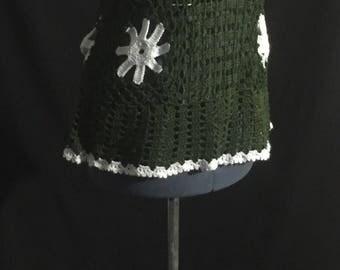 Vintage 1960's/70's Crochet Flower Tunic