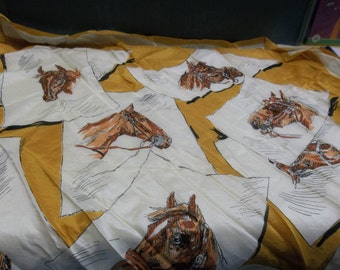 Vintage Echo Horse Heads Scarf, T