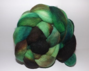 Hand Dyed Roving - Tree Frog - 4.0 Oz
