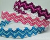 Friendship Bracelet Zigzag Macrame Knotted Wristband
