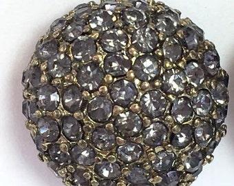 Rhinestone Earrings Round Sparkly Earrings Clusters Gray Rhinestones Posts Wedding Jewelry