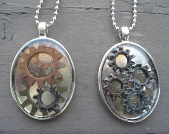 Clockwork Cameo Necklaces
