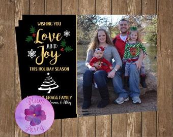 Love & Joy Holiday Greeting Card 5x7