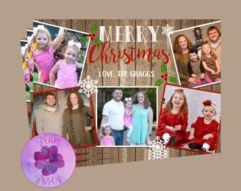 5 Photo Holiday Greeting Card 5x7