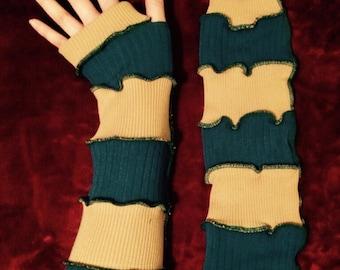 Blue/Tan Arm Warmers