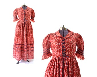 1930s Dress, Red 30s Dress, 1930s Vintage Dress, 1930s Vintage Clothing, 30s Vintage Dress, 30s Vintage Clothing, Large Dress, Plus Size