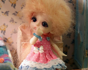 Dress for Lati White outfit clothes tiny bjd doll