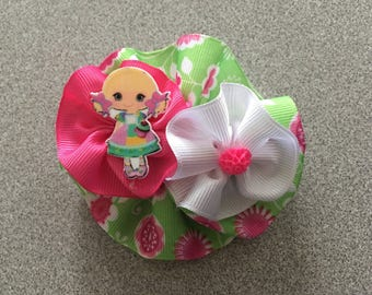 """Round Hair Bow approximately 3-4"""""""