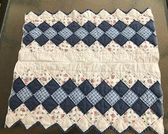 Vintage Quilt Layering Piece -  Photo Prop Newborn Quilt Prop,  Baby Quilt, Vintage Baby Photography Prop