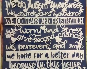 Autism Awareness Papercut