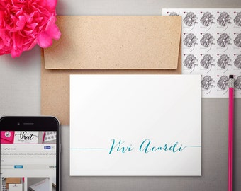 Stationary Kit  |  Writing Set | Personalized Stationery | MODERN CALLIGRAPHY | Personalized Notecards