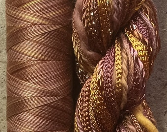 Hand Dyed Embroidery Threads, Two of a Kind, No.07 Yellow Ochre, Cotton and  Viscose Thread Selection, Hand dyed Quilting Thread, UK Seller