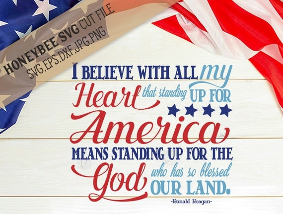America Stand Up For God 4th Of July Svg Patriotic Svg Ronald