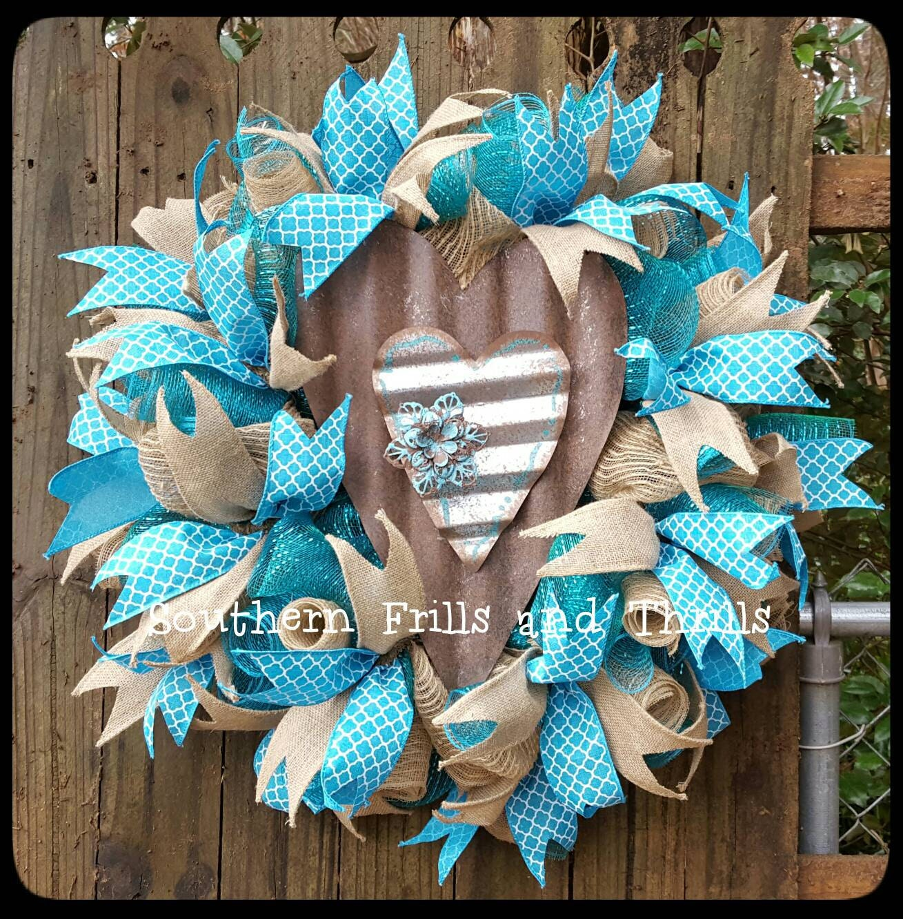 Deco Mesh Wreath Outdoor Wreath Front Door Wreath Wreaths