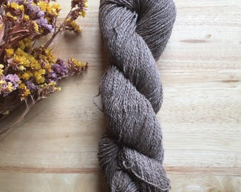 Yarn - Natural Brown--Alpaca and Wool Blend--Beautiful Color and Texture