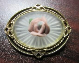 Flower Ceramic Pin Brooch
