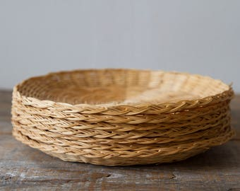 Wicker Chargers - Set of 8