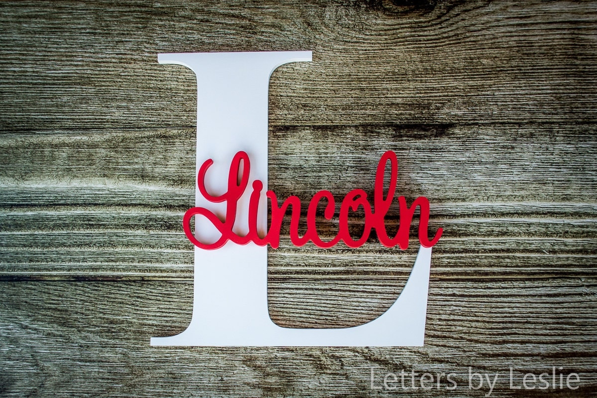 Nursery name sign capital letter baby name plaque personalized nursery name sign capital letter baby name plaque personalized nursery baby name wall hanging nursery wooden wall art negle Image collections