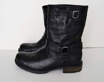 Coxx Borba, black leather boots size 42