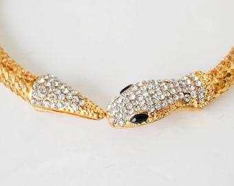 Snake necklace, Cleopatra jewelry
