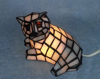 Nightlight - Stained Glass Cat - Accent Lamp