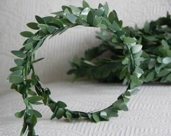 Boxwood Garland artificial wired garland, supplies for wedding decor, fairy garden, miniature garden, faux greenery Christmas supply
