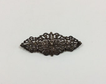 Vintage  Sterling Silver Marcasite Brooch/Pin