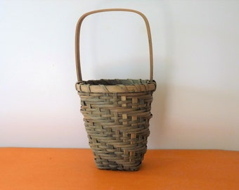 Woven Basket with Handle - vintage, offered by MtnGlen