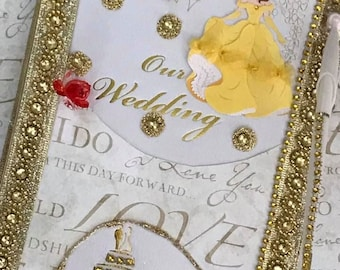 Beauty and The Beast Belle Wedding Guest Book with Pen Set