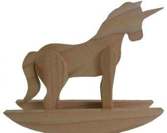 Rocking Unicorn - Wooden Unicorn - Unicorn Sculpture - Unicorn Art - Wood Unicorn - Unicorn Decor - Unicorns
